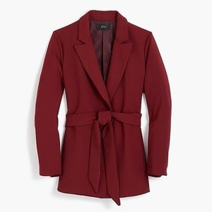 New J. Crew Women's Wrap Blazer in 365 Crepe